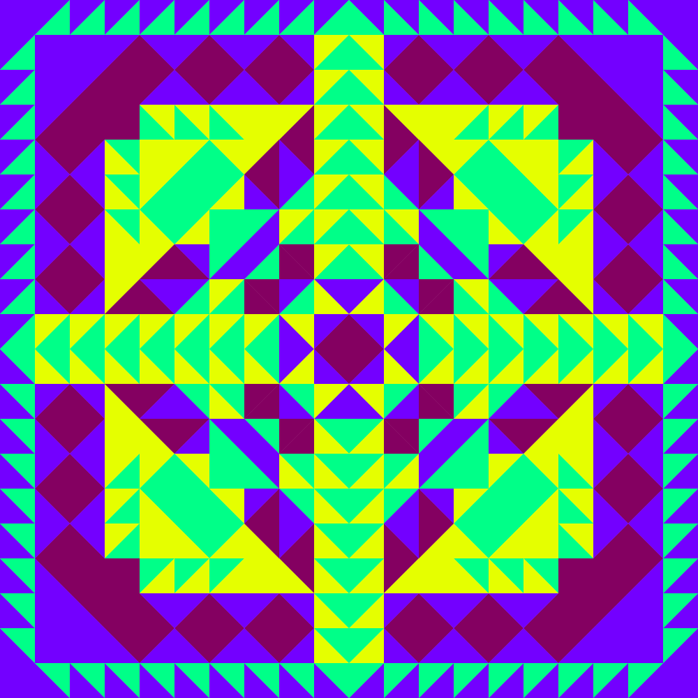 A fun symmetrical vector pattern